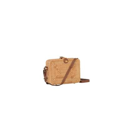 Sac rectangle porté travers rotin tendance - Thai Naturel