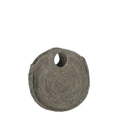 3896b29962 Sac à main rond raphia Takisoa Gris - l'Atelier du Crochet
