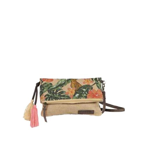 Sac porté travers jute imprimé tropical tendance - JUNGLE Jaguar