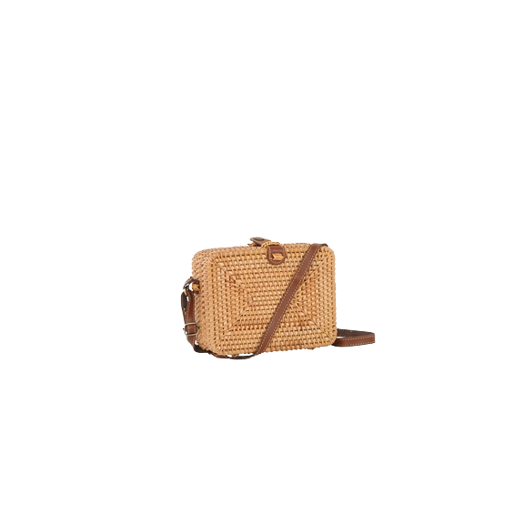 Cross body bag rattan - thai