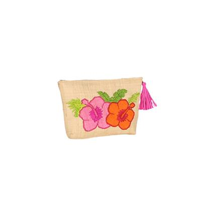 Pochette patch brodé - Fun Hibiscus