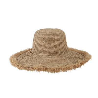 Chapeau en crochet bord long à franges - FRISOA The