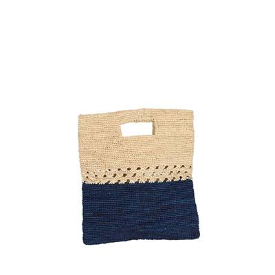 Bag clutch rafia Plissoa